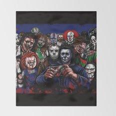 Horror Villains Selfie Throw Blanket