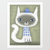 BLUE ADORNMENTS Art Print