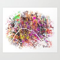 paris Art Prints featuring Paris by Nicksman