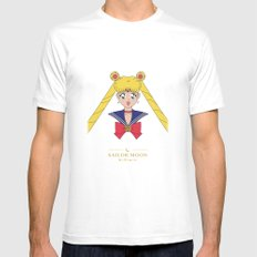 Sailor Moon SMALL White Mens Fitted Tee