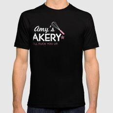 Amy's Bakery Black Mens Fitted Tee SMALL