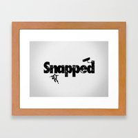 snapped Framed Art Print