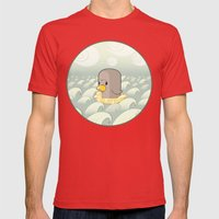 Chick Across the Sea Mens Fitted Tee Red SMALL