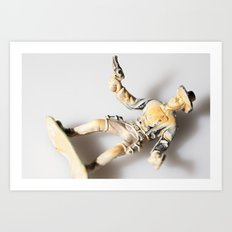 The Little Cowboy, fallen Art Print