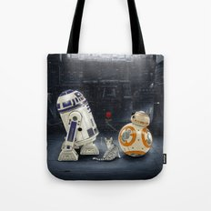 LOVE DROID & THE CAT Tote Bag