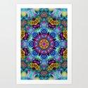 Colorful Mosaic Mandala Art Print