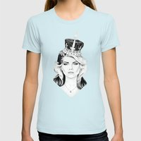 Debbie Harry Womens Fitted Tee Light Blue SMALL