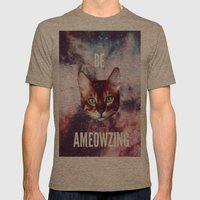 Be Ameowzing Mens Fitted Tee Tri-Coffee SMALL