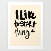 Start Art Print