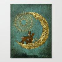 Moon Travel Canvas Print