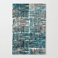 Black and Blue Pattern Print Canvas Print