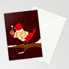 Staying warm Stationery Cards