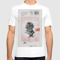 Cat Mens Fitted Tee White SMALL