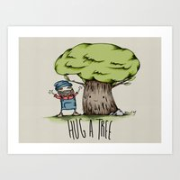 Hug A Tree Art Print