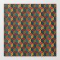 autumnal cubes Canvas Print