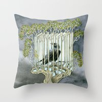 Wicked nature Throw Pillow