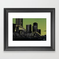Melbourne City - Footbri… Framed Art Print