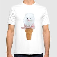 Two Scoops Mens Fitted Tee White SMALL