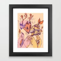 Love On Empty Stomachs Framed Art Print