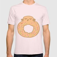 Bovi-doughnut Mens Fitted Tee Light Pink SMALL