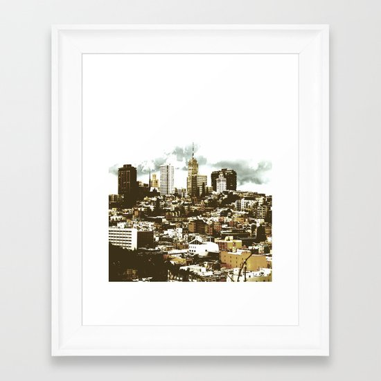 sanscape 2 Framed Art Print