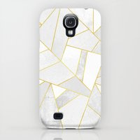 Samsung Galaxy S4 Case featuring White Stone by Elisabeth Fredriksson
