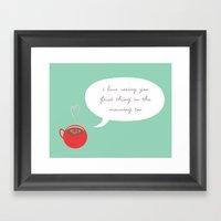 A Love Affair (With Coff… Framed Art Print
