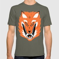 Cursed Fox Mens Fitted Tee Lieutenant SMALL