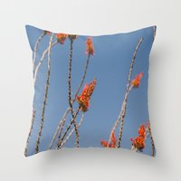 Ocotillo in Bloom Throw Pillow