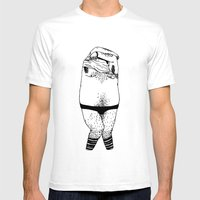 Undressing Series / Benj… Mens Fitted Tee White SMALL