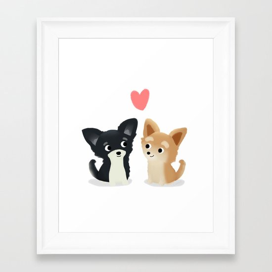 Chihuahua Love - Cute Dog Series Framed Art Print