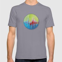 A Day At The Beach/Sonia Dada Mens Fitted Tee Slate SMALL
