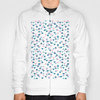Triangles Blue and Pink Repeat Hoody