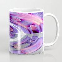 Abstract Morning Glory Fish Eye Collage Mug