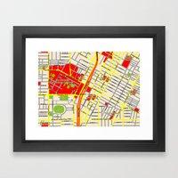 Map design of the University of southern California, LA Framed Art Print