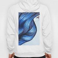 Abstract Hair Hoody