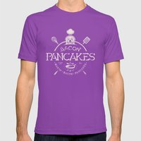 Bacon Pancakes Mens Fitted Tee Ultraviolet SMALL