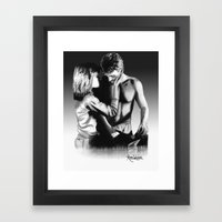 Sarah and Kyle Framed Art Print