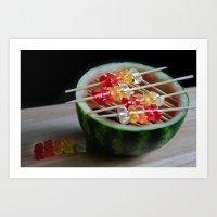 Watermelon Gummy Bears, … Art Print