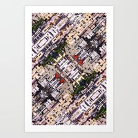 Scene Of City Structures Art Print