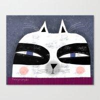 MASKED CAT Canvas Print