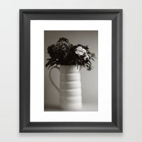 Jug Of Flowers Framed Art Print