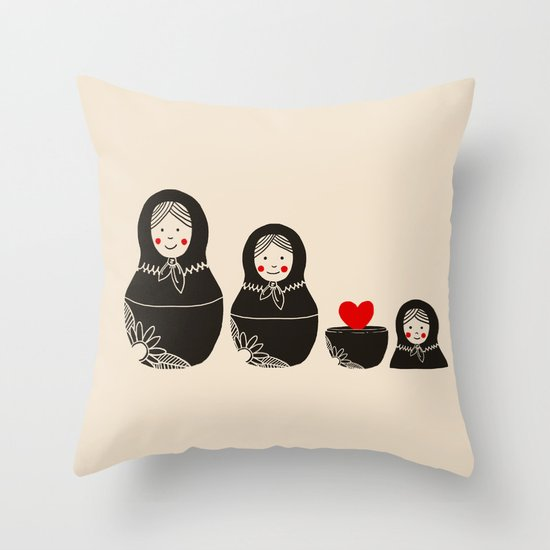 The Same Inside Throw Pillow