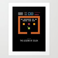 Minimal NES - The Legend… Art Print