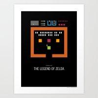 Minimal NES - The Legend of Zelda Art Print