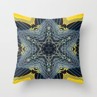 Guitar Kaleidoscope Throw Pillow