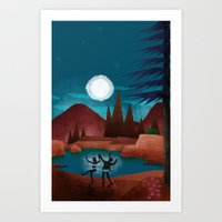 Moondance - Inspired by Wes Anderson's movie Moonrise Kingdom Art Print