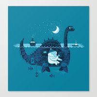 The Yeti On Vacation Canvas Print