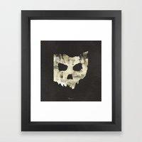 Ohio Skull Framed Art Print