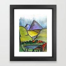 Forest Print. Framed Art Print